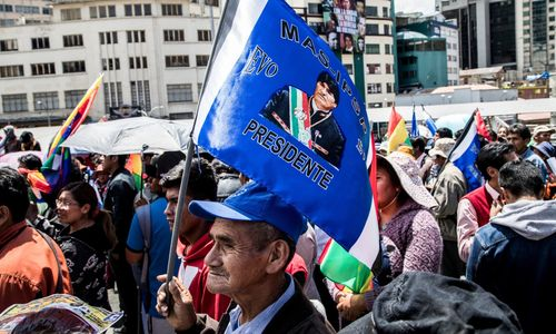 Lateinamerika Bolivien Adveniat La Paz Demonstration