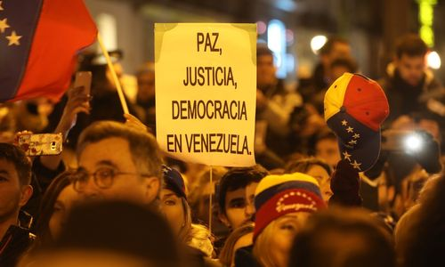 Venezuela Demonstration Demokratie Friede
